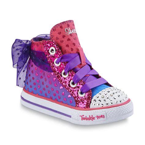 purple light up shoes skechers s twinkle toes shuffles pixie