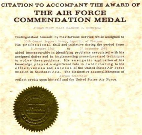 air commendation medal exles myideasbedroom