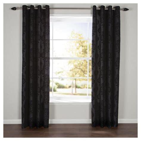 tesco black curtains buy flock damask eyelet curtains w229x229cm 90x90
