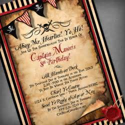 pirate customized printable invitation