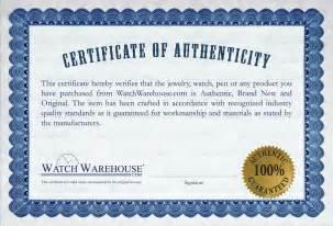 Certificate Of Authenticity Autograph Template Certificate Of Authenticity Template Images
