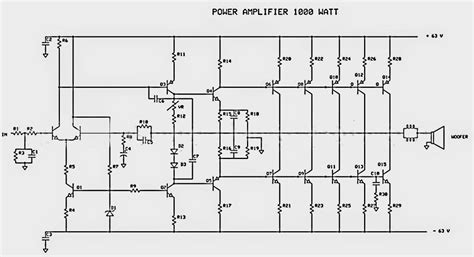 audio lifier circuit diagram with layout 1000w power audio lifier schematic diagrams