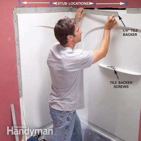 Bath Shower Enclosure Kits install an acrylic tub and tub surround the family handyman