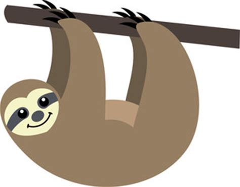 sloth clipart sloth clipart pencil and in color sloth