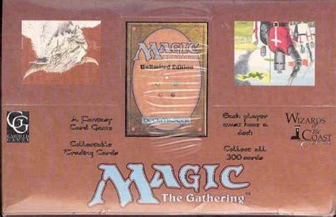 magic the gathering unlimited starter deck box da card world