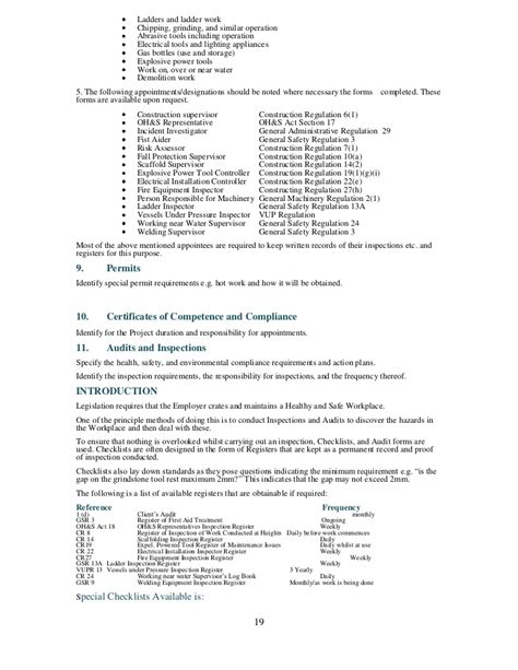 Appointment Letter Tool Inspector Health And Safety Plan Generic