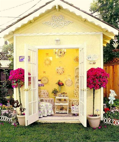 shed cottage garden tea party garden shabby chic