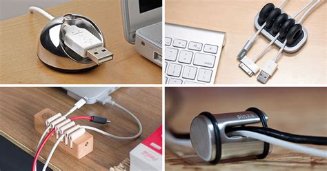 Cable Desk Holder by 11 Creative Cable Holders That Stop The Cables Falling