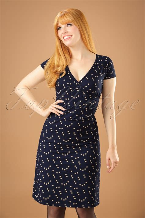 cross dress salon 60s star cross dress in dark navy