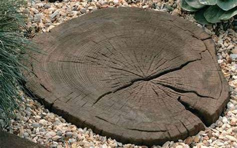 Resin Patio Pavers Timberstone Log Garden Stepping Stones Stonemarket