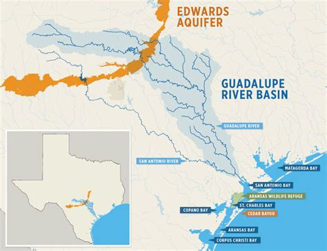 guadalupe river map texas guadalupe basin management the aransas project