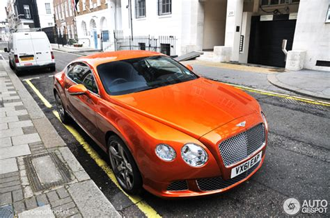 bentley orange spotted beautiful orange bentley continental gt 2012