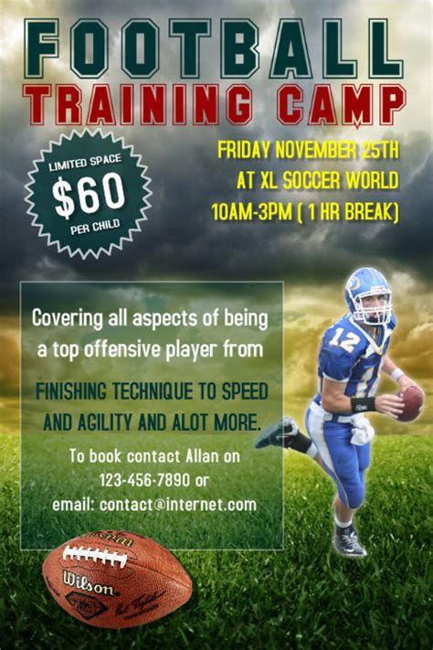 football training c flyer template postermywall