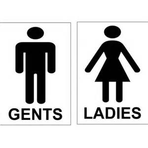 toilet signs set men and women or ladies and gents 100mm