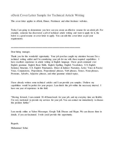 Odesk Cover Letter – oDesk cover letter sample for graphics designing