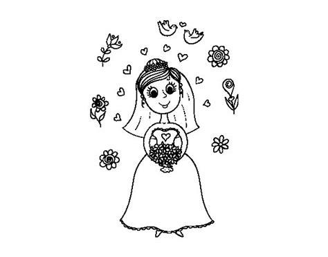 disegni con i fiori disegno di sposa con i fiori da colorare acolore