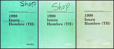 car repair manual download 1998 isuzu hombre electronic throttle control 1998 isuzu hombre repair shop manual set original