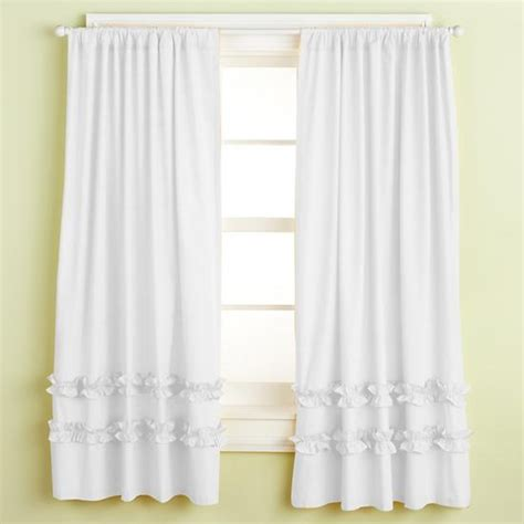 white ruffled curtains for nursery kids white curtains home ideas