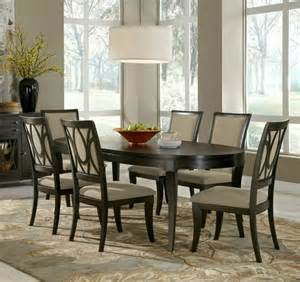 7 piece aura oval leg dining room set samuel lawrence