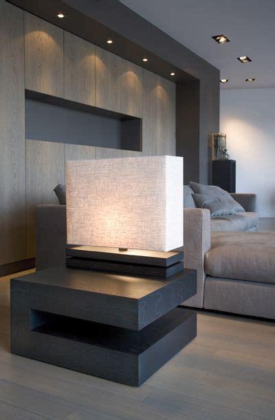 interior design bedside cabinets minimalist bedroom grey modern bedside table and accent lighting on pinterest