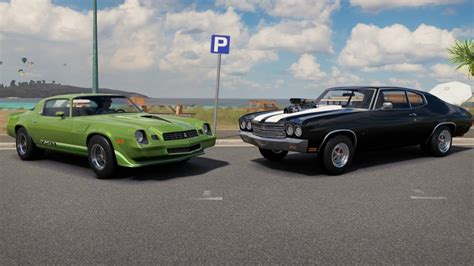 camaro chevelle ss forza horizon 3 1979 camaro vs 1970 chevelle ss