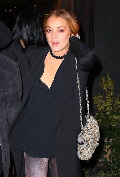 Lindsay Lohan Out by Lindsay Lohan Out Style New York City 12 22 2015