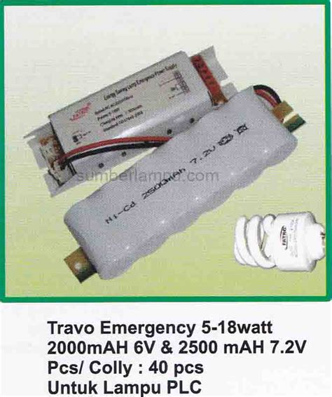 Battery Untuk Lu Emergency powerpack emergency kit lu plc tl downlight toko sumber lu