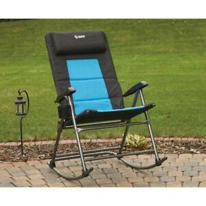 guide gear folding portable oversized rocking camp chair  lb capacity ebay