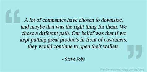 steve jobs quote     putting great products