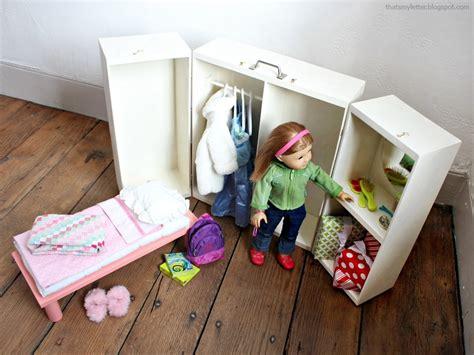 doll closet folding   doll furniture storage trunk