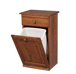 Kitchen Trash Bin Cabinet by Amish Trash Bins