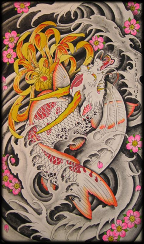 dragon tattoo north battleford dragon koi by clark north tribal dragons pinterest