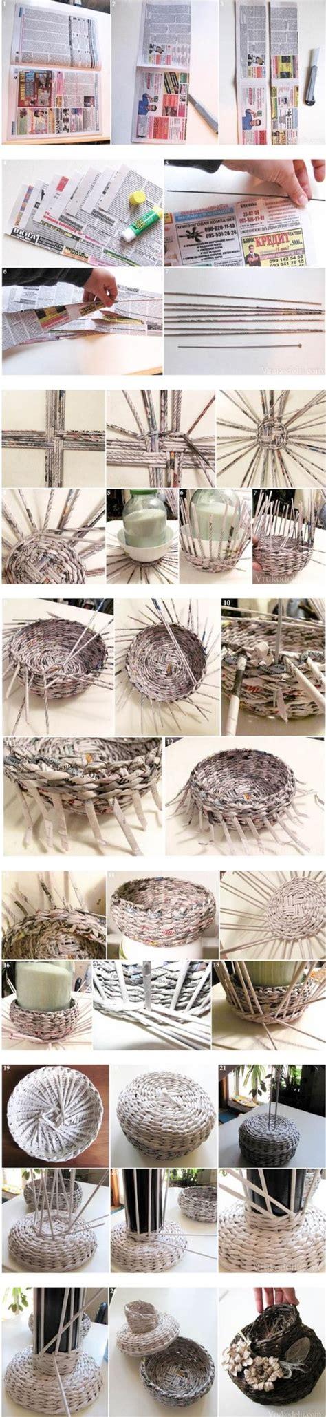 canasta echa en revista las 25 mejores ideas sobre cesta peri 243 dico en pinterest y