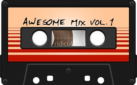 Mix Vol 1 quot awesome mix vol 1 quot stickers by ridiculouis redbubble