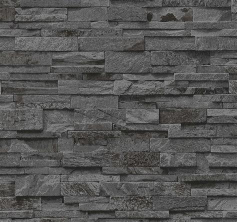 Vliestapete Stein 3d vliestapete stein 3d optik schwarz grau mauer p s 02363 40