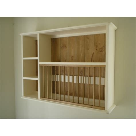 Painted Plate Rack by Pine Part Painted Plate Rack W91 5cm