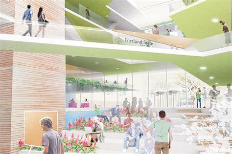 Portland State Mba Structure by Behnisch Architekten Archpaper