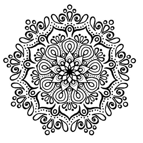mandala coloring pages vector mandala without color vector free