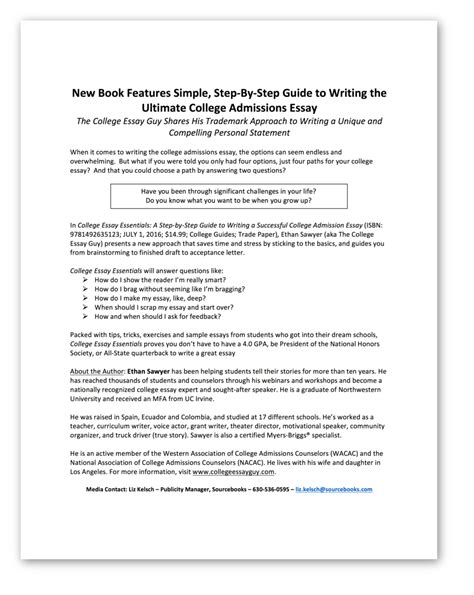 College Application Essay Book How To Write A College Admissions Essay Book How To