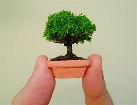 tiny doll houses tiny dollhouse bonsai tree in a handmade clay pot by marktduk on deviantart