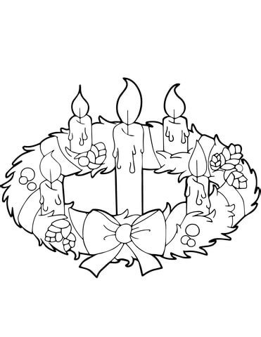 blank wreath coloring page catholic blank advent calendar calendar template 2016