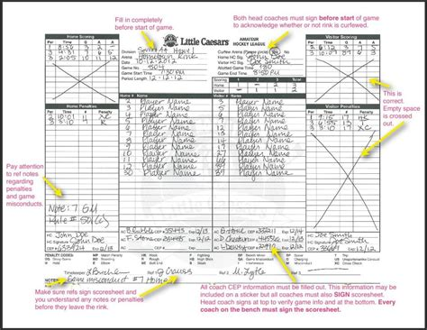 Out To Score hockey score sheet printable