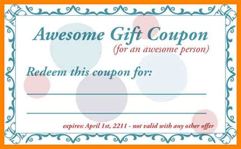 free printable restaurant coupons templates coupon template printable gift coupon templates for