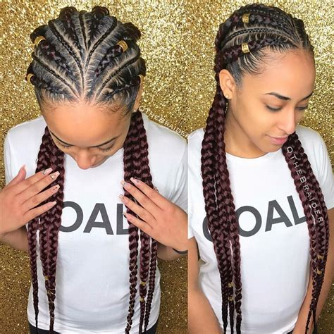 alternating fat and skinny cornrow hairstyles 155 likes 5 comments qthebraider qthebraider on