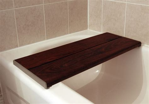 tub bench seat bath bench brazilian walnut accessible systems