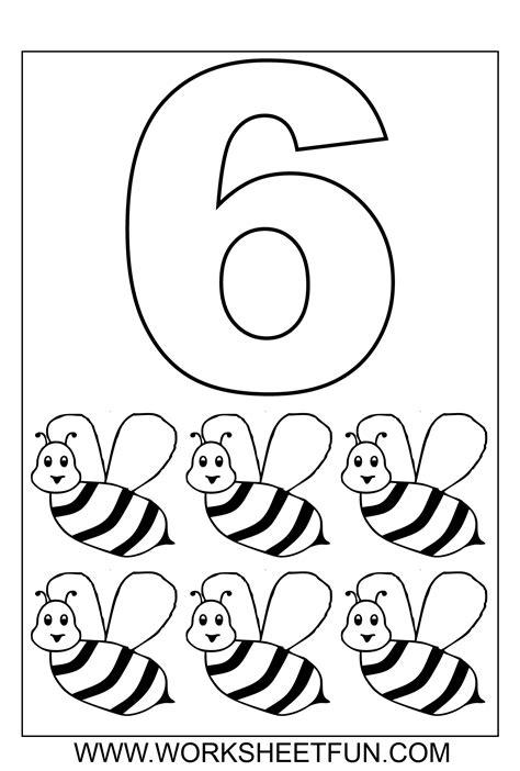 number coloring 1 10 ten worksheets printable