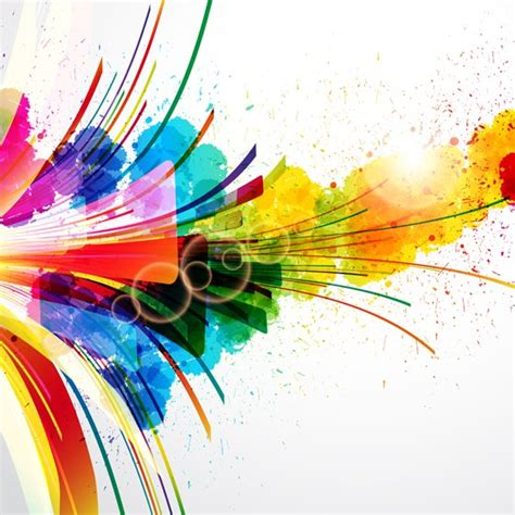 free vector colorful splash file vettoriale 365psd
