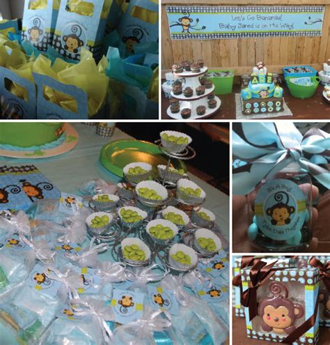 baby shower decorations monkey theme some with monkey boy baby shower ideas big dot