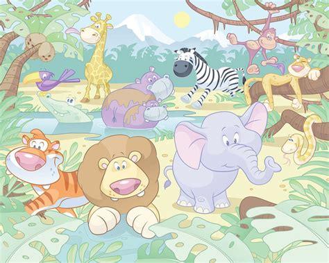 Dschungel Tapete Kinderzimmer by Walltastic Fototapete Kinderzimmer Wandbild Baby Dschungel