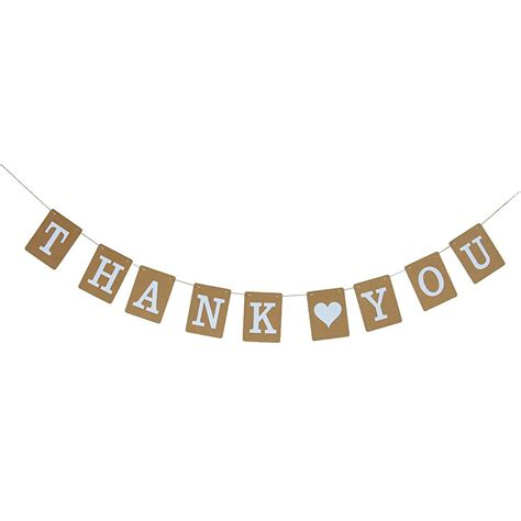 Wedding Bunting Banner by 1pcs Quot Thank You Quot Banner Kraft Paper Bunting Wedding
